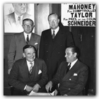 Although Generoso (seated, r.) had endorsed Republican reformer Fiorello La Guardia in New York City's 1933 mayoral race, in 1937 he pledged his support to candidate Jeremiah Mahoney (seated, l.) and the rest of the Democratic ticket.